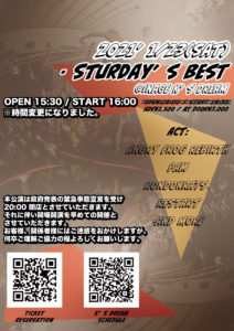 "K'S DREAM&A.F.R PRESENTS ""Saturday's Best"" @ 稲毛K's dream"